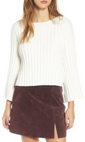 J.o.a. Women's Crop Ribbed Sweater