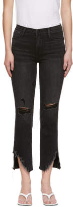 Frame Black Le High Straight Jeans