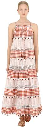 Dodo Bar Or Cotton Jacquard & Lace Dress W/ Tassels