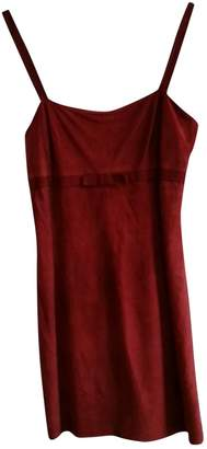 Paco Rabanne Burgundy Leather Dresses