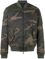 Hydrogen camouflage print bomber jacket