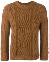 Maison Margiela distressed cable knit sweater