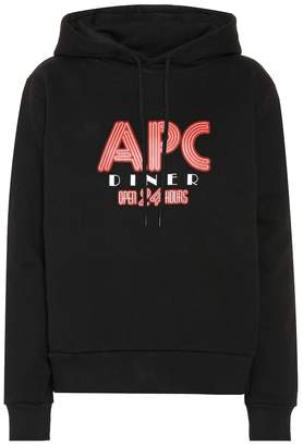 A.P.C. Printed cotton hoodie