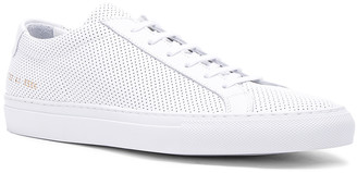 Common Projects Original Perforated Leather Achilles Low in White | FWRD