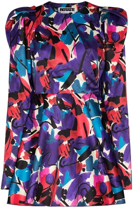 Rotate by Birger Christensen Pauline graphic-print mini dress