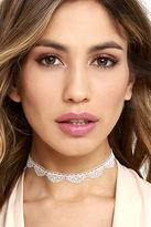 LuLu*s My Angel Baby White Lace Choker Necklace