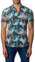 Jared Lang Cotton Leaves Print Sportshirt