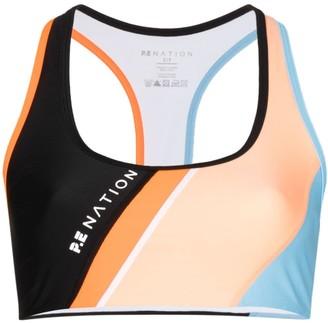 P.E Nation Aerial Drop colour-block sports bra