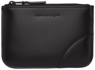 Comme des Garcons Wallets Wallets Black Leather Pouch