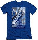 Power Rangers Mens Blue Ranger Deco Slim Fit T-Shirt