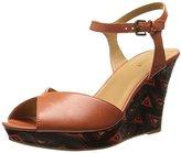 Nine West Women's Bigeasy Leather Platform Sandal