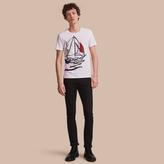 Burberry Sailboat Motif Cotton T-shirt