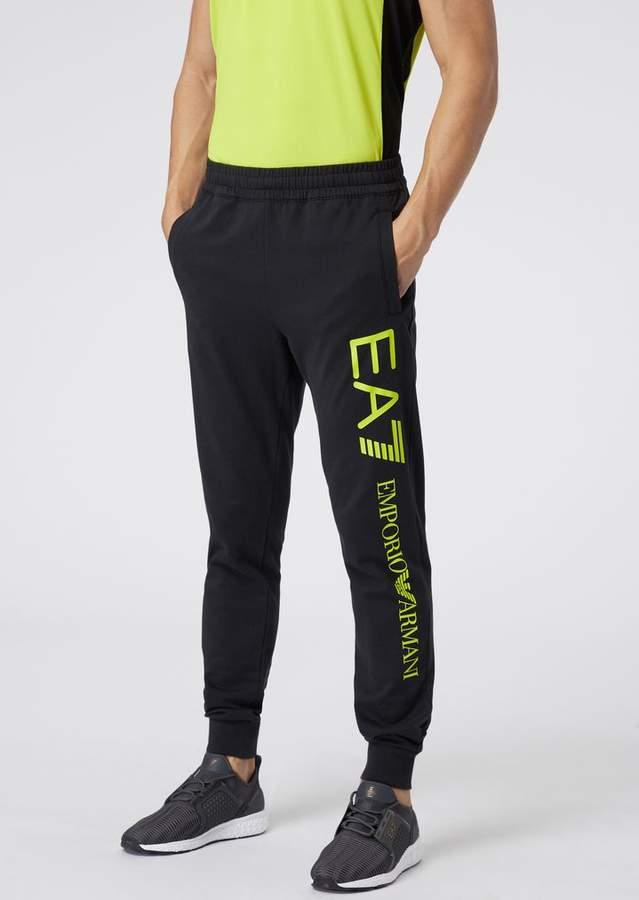 besserer Preis für stylistisches Aussehen echte Qualität Ea7 Cotton Jogging Pants With Contrast Logo