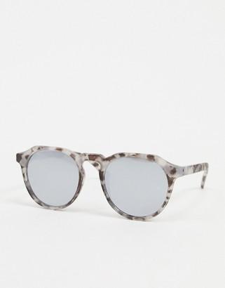 Jack and Jones round sunglasses in tortoiseshell
