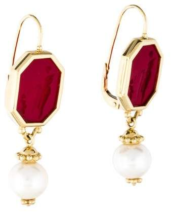 Tagliamonte Intaglio Pearl Drop Earrings