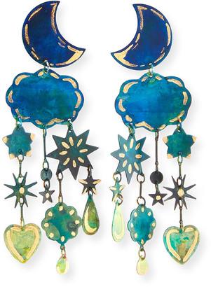We Dream In Colour Gilded Yasmine Dangle Earrings