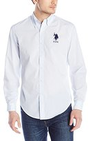 U.S. Polo Assn. Men's Slim Fit Striped Oxford Button Down Shirt
