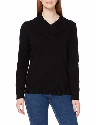 Meraki Women's Chunky Shawl Collar V-Neck Sweater