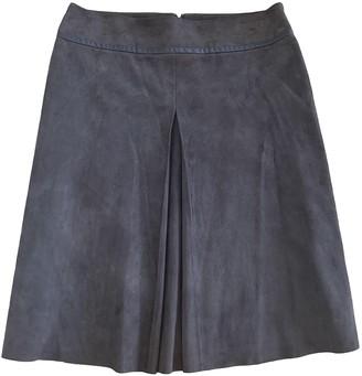 Paule Ka Brown Leather Skirt for Women