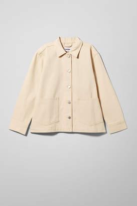 Weekday Dual Ecru Denim Jacket - Beige