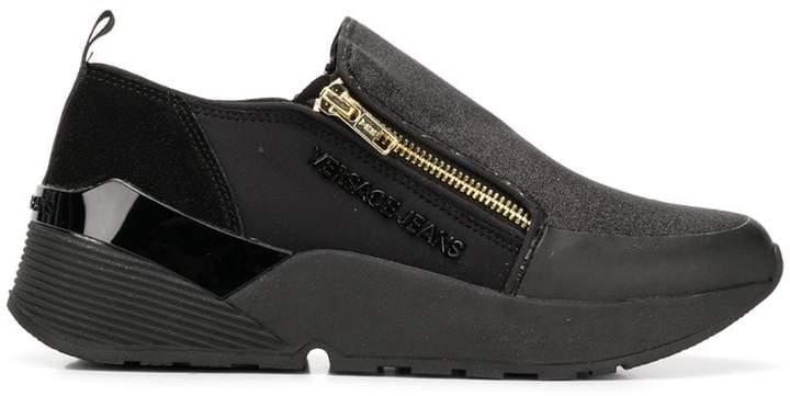 Versace zipped sneakers