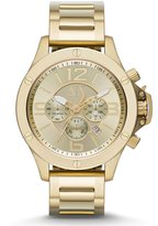 Armani Exchange Brushed Goldtone IP Stainless Steel Chronograph Watch
