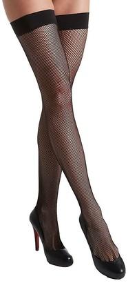 DKNY Women's Fishnet Thigh High Hosiery