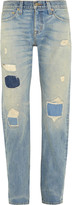 J.Crew + Point Sur Denim X-Rocker distressed boyfriend jeans