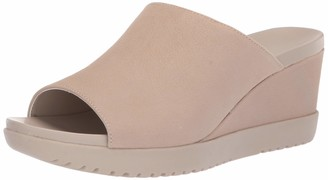 Aerosoles Women's Blonde Wedge Sandal - Opened Toed Wedge Shoe with Memory Foam Footbed (9.5M - Bone Nubuck)