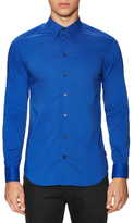 Armani Collezioni Solid Button Up Dress Shirt