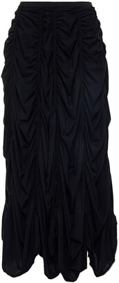MM6 MAISON MARGIELA Gathered Stretch-jersey Midi Skirt