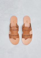 Ports 1961 tan leather raw cut sandal