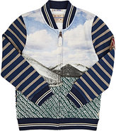 Scotch Shrunk Mixed-Graphic French Terry Zip-Front Sweater