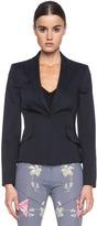 McQ by Alexander McQueen Tailored Cotton Jacket in Midnight Blue