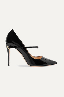 Jennifer Chamandi Lorenzo 105 Patent-leather Pumps - Black