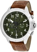 Giorgio Armani Exchange Classic AX1758 Men's Brown Leather and Stainless Steel Chronograph Watch