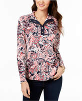 Charter Club Petite Paisley-Print Top, Created for Macy's