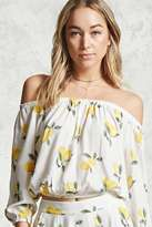 Forever 21 FOREVER 21+ Lemon Off-the-Shoulder Top