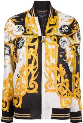 Versace Acanthus print bomber jacket