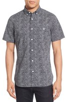 Nordstrom Men's Extra Trim Fit Print Short Sleeve Shirt