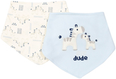 Cutie Pie Baby Blue Zebra Bib Set