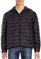 Hawke & Co Packable Down Puffer Hooded Coat