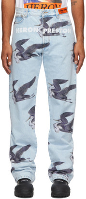 Heron Preston Blue Print Jeans