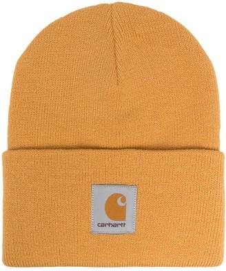 Carhartt Wip Logo-Patch Beanie Hat