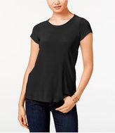 CeCe Lace-Trim Open-Back T-Shirt