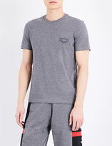 Givenchy Leather badge cotton-jersey T-shirt