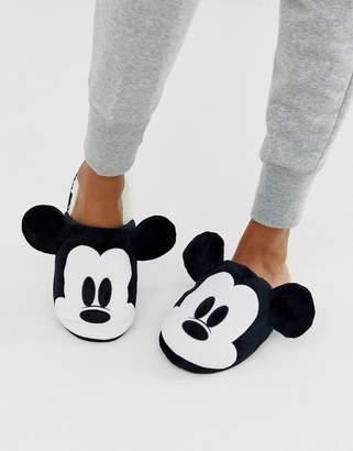 Women'secret Mickey Mouse 3D slippers in black