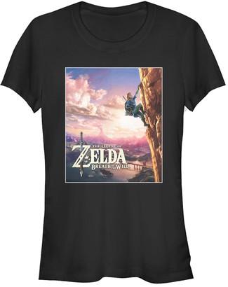 Fifth Sun Women's Tee Shirts BLACK - Legend of Zelda Black Breath of the Wild Up Tee - Women & Juniors