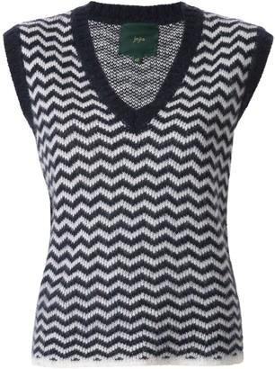 Jejia Julie chevron-knit vest