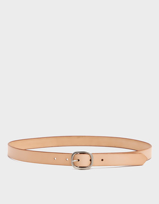 Maximum Henry Men's Slim Oval Belt in Sand, Size Small   Leather